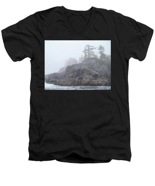 West Coast Landscape Ocean Fog I Men's V-Neck T-Shirt