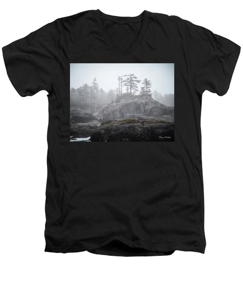 West Coast Landscape Ocean Fog IIi Men's V-Neck T-Shirt