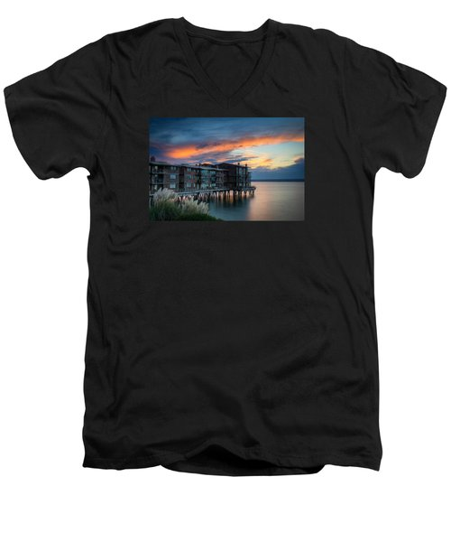 Men's V-Neck T-Shirt featuring the photograph West Seattle Living by Dan Mihai