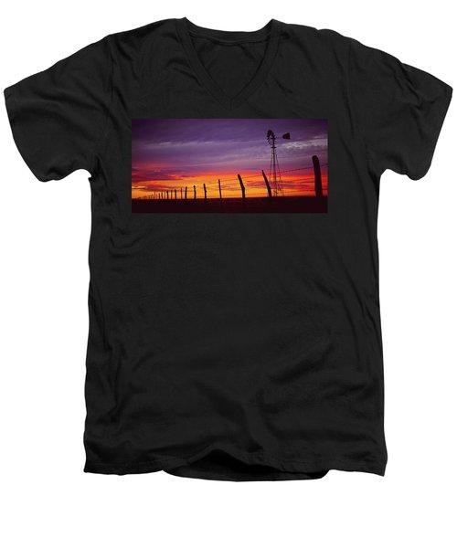 West Texas Sunset Men's V-Neck T-Shirt