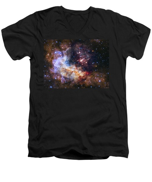 Westerlund 2 - Hubble 25th Anniversary Image Men's V-Neck T-Shirt