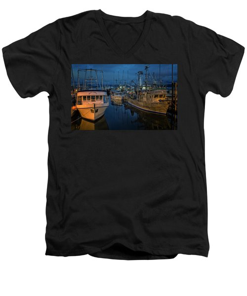 Men's V-Neck T-Shirt featuring the photograph Western Prince by Randy Hall