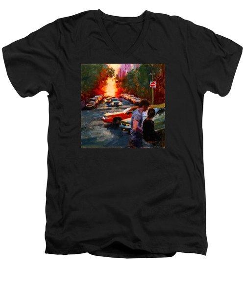 Westside Sunset No. 3 Men's V-Neck T-Shirt