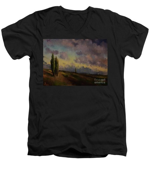 Wet Sky Men's V-Neck T-Shirt by Maja Sokolowska