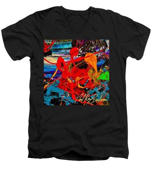 Wet Sunset Men's V-Neck T-Shirt