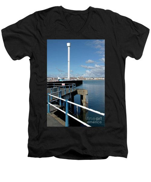 Weymouth Pavillion Pier And Tower Men's V-Neck T-Shirt by Baggieoldboy