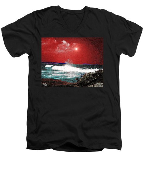 Whaleback At Peaks Island Maine Men's V-Neck T-Shirt