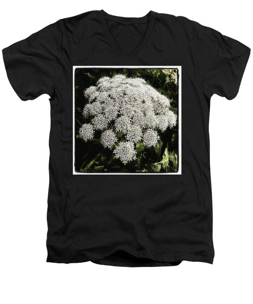 Men's V-Neck T-Shirt featuring the photograph What Flower Is This? I Think It's by Mr Photojimsf