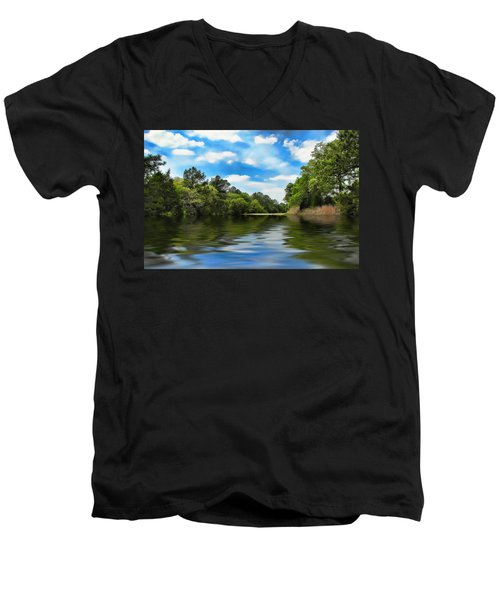 What I Remember About That Day On The River Men's V-Neck T-Shirt