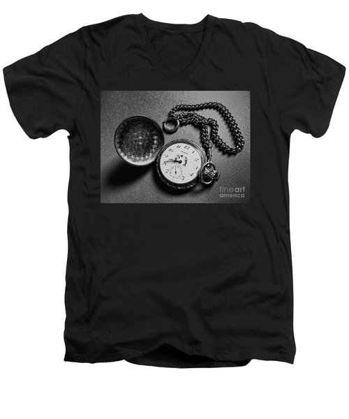 What Is The Time? Men's V-Neck T-Shirt by Jasna Dragun