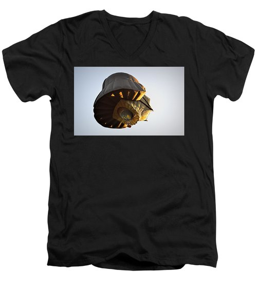 Men's V-Neck T-Shirt featuring the photograph What Lies Beneath by AJ Schibig