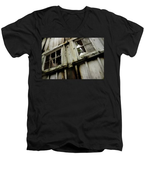 Men's V-Neck T-Shirt featuring the photograph What Lies Within by Mike Eingle