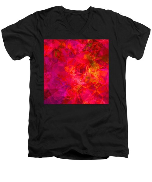 Men's V-Neck T-Shirt featuring the digital art What The Heart Wants by Wendy J St Christopher