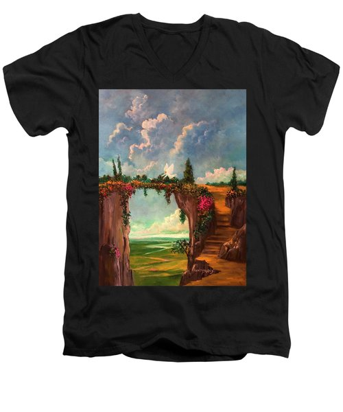 When Angels Garden In Heaven Men's V-Neck T-Shirt