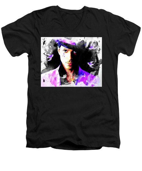 When Doves Cry Men's V-Neck T-Shirt