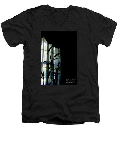 Men's V-Neck T-Shirt featuring the photograph When It Wears The Blue Of May by Linda Shafer