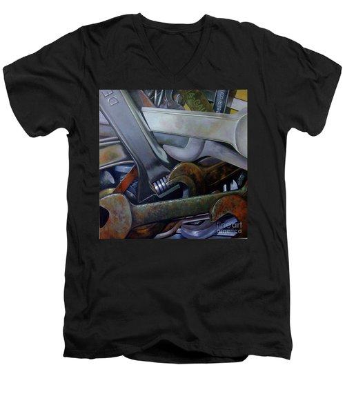 Where Have All The Mechanics Gone Men's V-Neck T-Shirt