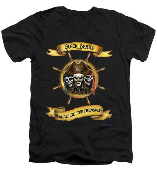 Where Be The Treasure? Men's V-Neck T-Shirt