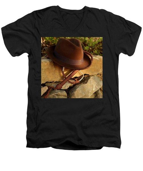 Where Is Indiana? Men's V-Neck T-Shirt