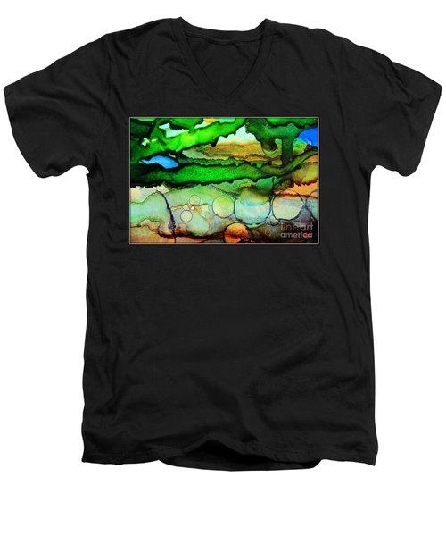 Where The Rivers Flow.. Men's V-Neck T-Shirt