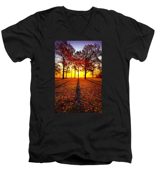 Where You Have Been Is Part Of Your Story Men's V-Neck T-Shirt by Phil Koch