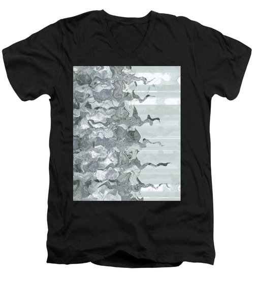 Men's V-Neck T-Shirt featuring the digital art Whispers In The Fog by Wendy J St Christopher