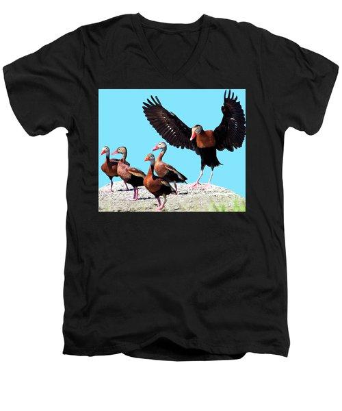 Whistling Ducks Men's V-Neck T-Shirt
