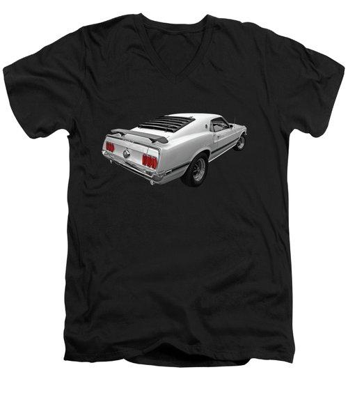 White '69 Mach 1 Men's V-Neck T-Shirt