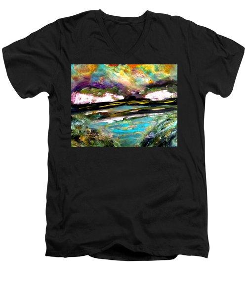 White Cliffs At Sunset Men's V-Neck T-Shirt