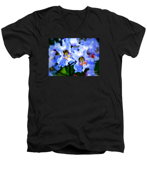White Flowers Men's V-Neck T-Shirt