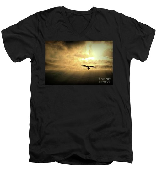 White Light Sunrise Men's V-Neck T-Shirt