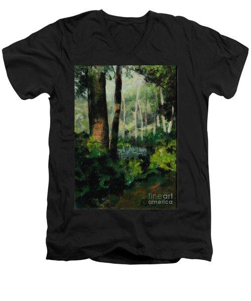 White Mountain Woods Men's V-Neck T-Shirt