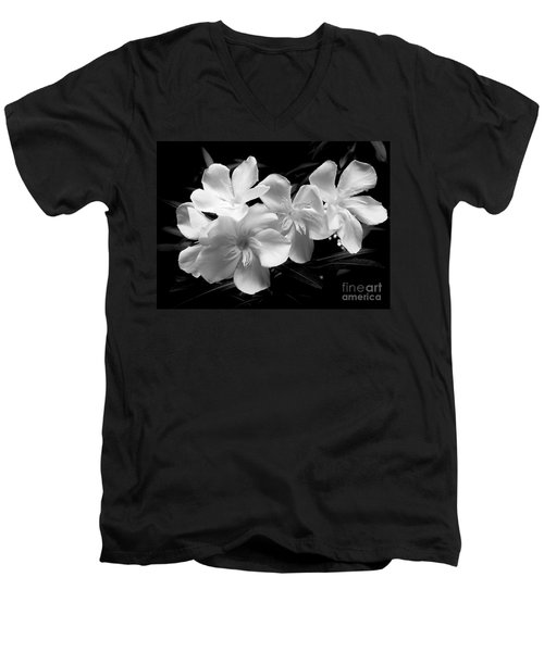 White Oleander Men's V-Neck T-Shirt