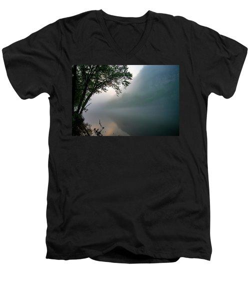 White River Morning Men's V-Neck T-Shirt
