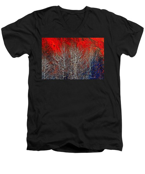 White Trees Men's V-Neck T-Shirt