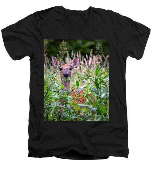 Whitetail Doe Men's V-Neck T-Shirt
