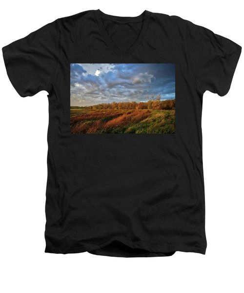 Who Has Seen The Wind? Men's V-Neck T-Shirt by Keith Boone