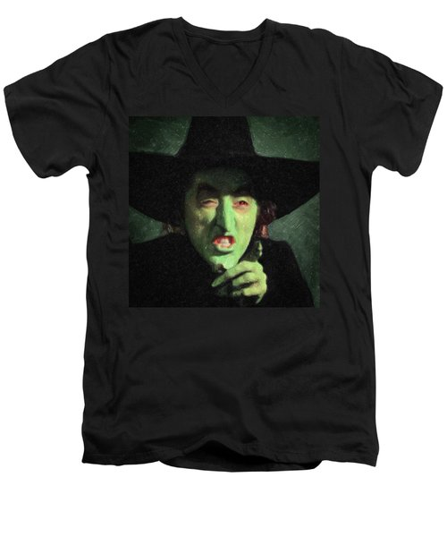 Wicked Witch Of The East Men's V-Neck T-Shirt by Taylan Apukovska