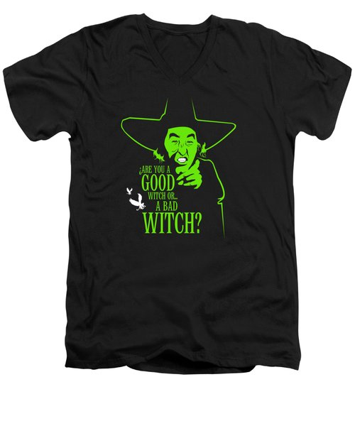 Wicked Witch Of West Men's V-Neck T-Shirt by Mos Graphix