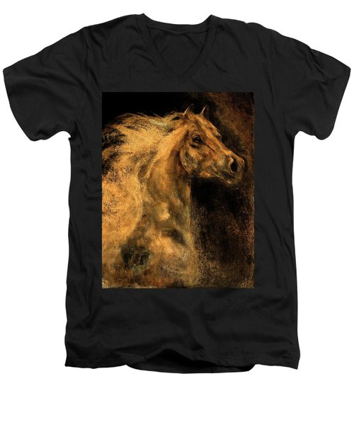 Wild And Free Men's V-Neck T-Shirt by Barbie Batson