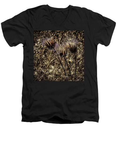 Wild Artichoke Men's V-Neck T-Shirt by Edgar Laureano