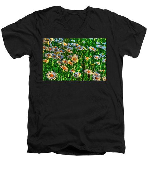 Wild Daisy Men's V-Neck T-Shirt