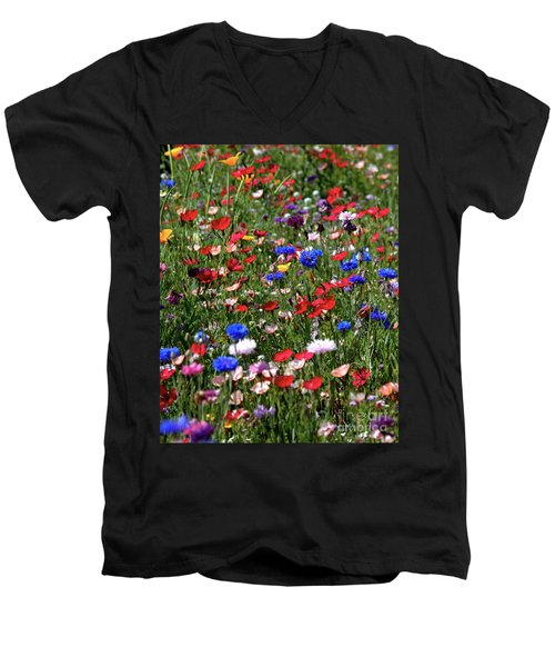 Wild Flower Meadow 2 Men's V-Neck T-Shirt