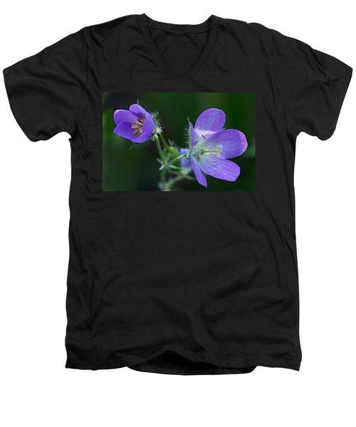 Wild Geraniums Men's V-Neck T-Shirt