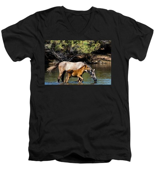Wild Horses On The Salt River Men's V-Neck T-Shirt