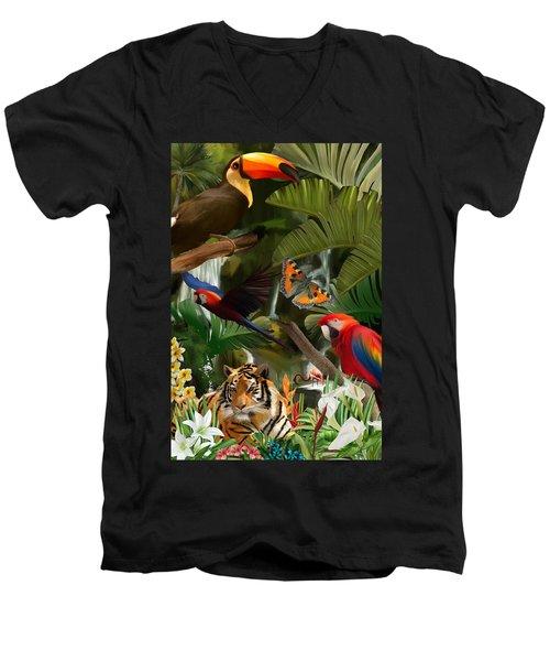 Wild Men's V-Neck T-Shirt