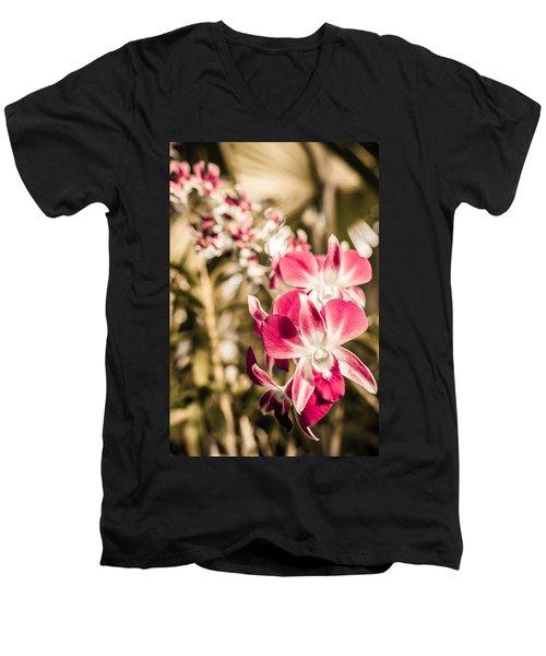 Wild Orchids Men's V-Neck T-Shirt