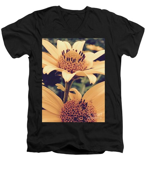 Wild Sunflowers Men's V-Neck T-Shirt
