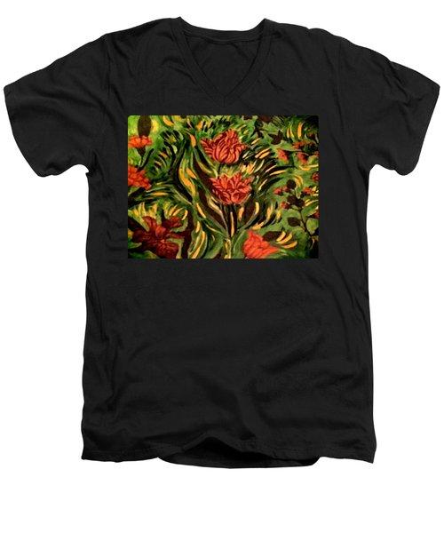 Wild Tulips Men's V-Neck T-Shirt