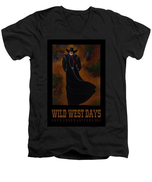 Wild West Days Poster/print  Men's V-Neck T-Shirt by Lance Headlee